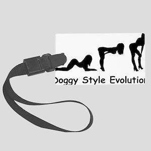 doggy evolution Large Luggage Tag