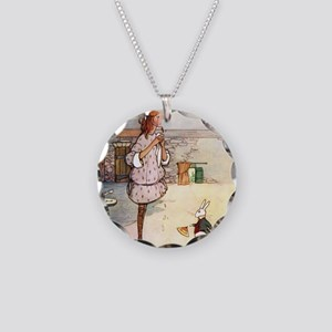 Alice in Wonderland005 SQ Necklace Circle Charm