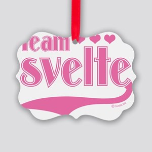 team svelte pink hearts Picture Ornament
