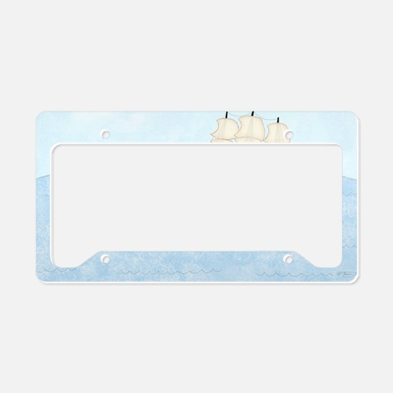 2-Naval Ship at Sea 5x7 License Plate Holder