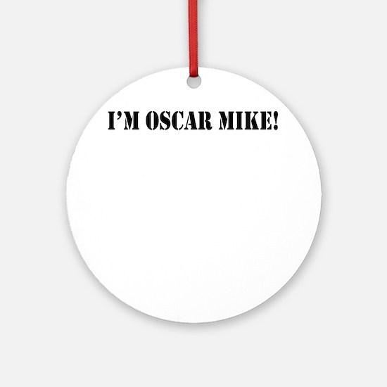 OM1 Round Ornament