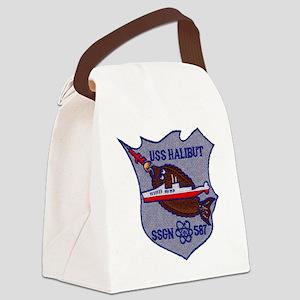 halibut patch transparent Canvas Lunch Bag