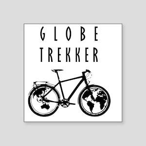 """bike globeREDO4white Square Sticker 3"""" x 3"""""""
