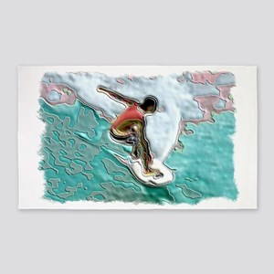 SURFER framed 3'x5' Area Rug