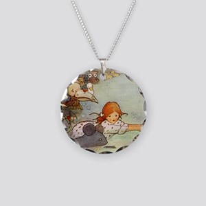 Alice in Wonderland006 SQ Necklace Circle Charm