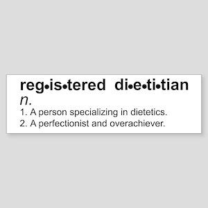 Registered Dietitian Bumper Sticker