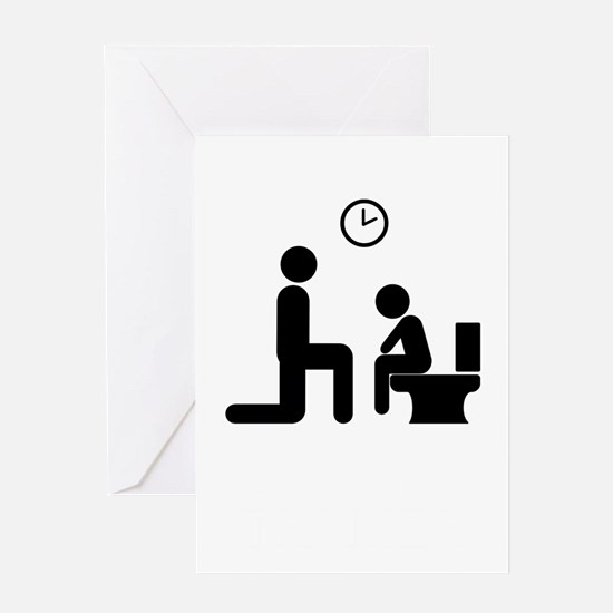 Potty_Trainer_Black_Final Greeting Card