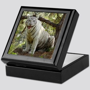 White tiger 011 Keepsake Box