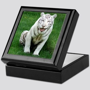 White tiger 018 Keepsake Box