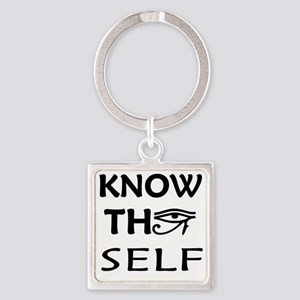 KNOW THY SELF Square Keychain