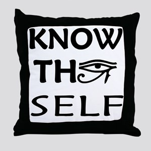 KNOW THY SELF Throw Pillow