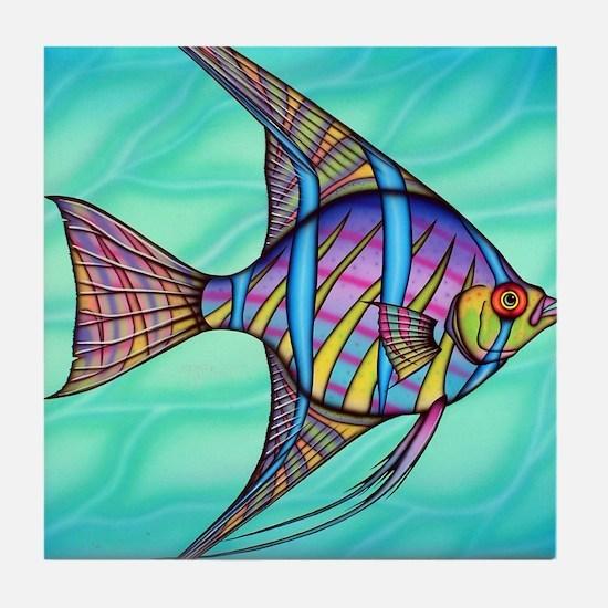 Angelfish Tile Coaster
