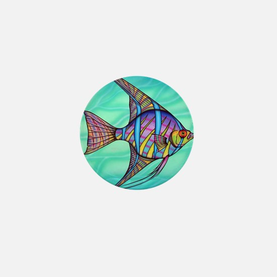 Angelfish Mini Button