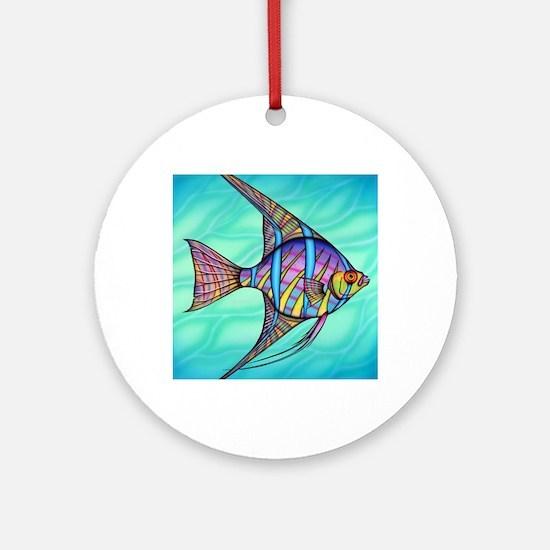 Angelfish Round Ornament