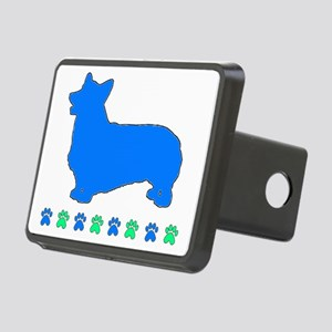 Pembroke Paws alt Edge Blu Rectangular Hitch Cover