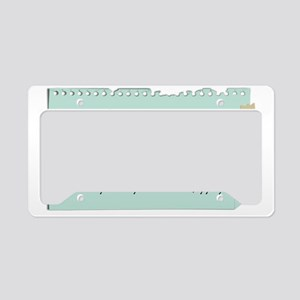 stay-in-shape-rules2 License Plate Holder