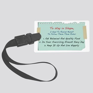 stay-in-shape-rules2 Large Luggage Tag