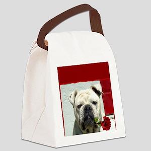 Thank you bulldog Canvas Lunch Bag
