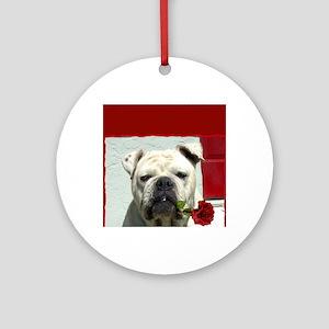 Thank you bulldog Round Ornament