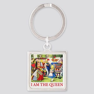 ALICE - I AM THE QUEEN Square Keychain