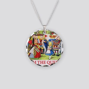 ALICE - I AM THE QUEEN Necklace Circle Charm