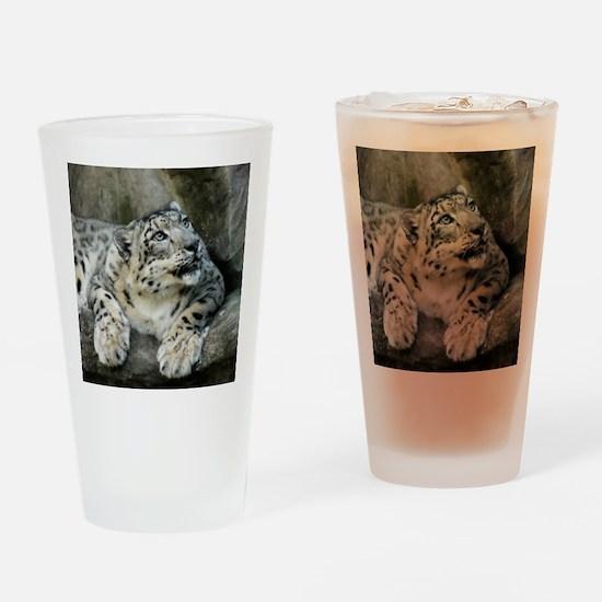 SnowLeopardBCR006 Drinking Glass
