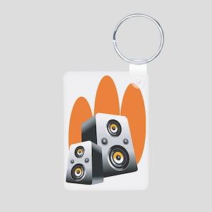 speaker Aluminum Photo Keychain