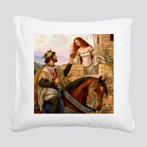 Guinevere and Arthur Square Canvas Pillow