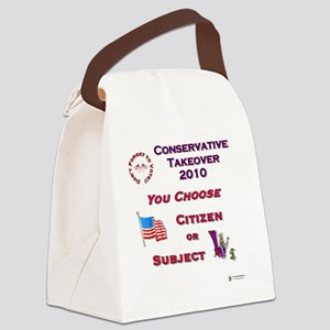 Conservative Takeover Choice Canvas Lunch Bag