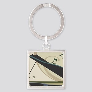 Piano Square Keychain