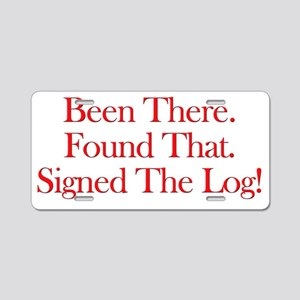 been there-red Aluminum License Plate