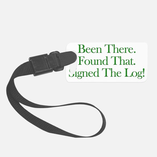 been there-green Luggage Tag