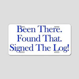been there-blue Aluminum License Plate