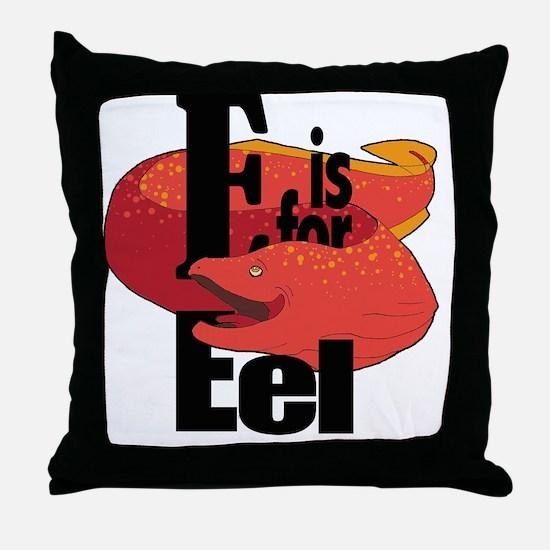 EisforEel Throw Pillow