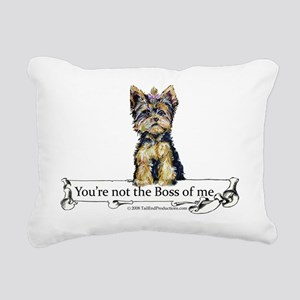 2-Boss Yorkie Rectangular Canvas Pillow