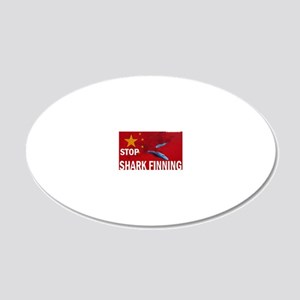 sharkfin-soup-cap 20x12 Oval Wall Decal