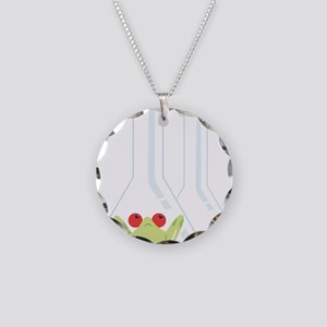 Glassware Necklace Circle Charm