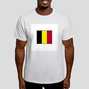Belgium Flag Ash Grey T-Shirt