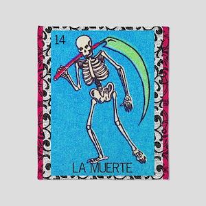 lamuerte9by12doubleborder Throw Blanket
