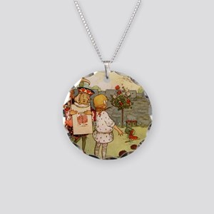 Alice in Wonderland013 SQ Necklace Circle Charm