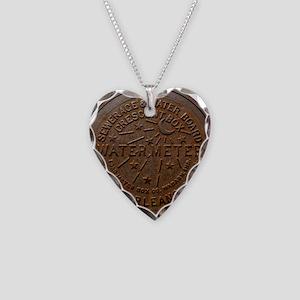 NOLA Water Meter Necklace Heart Charm