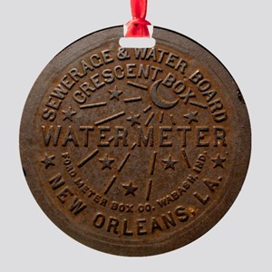 NOLA Water Meter Round Ornament