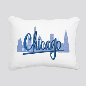 CHICAGO-Dark-Blue Rectangular Canvas Pillow