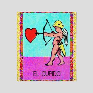 cupid9by12doubleborder Throw Blanket