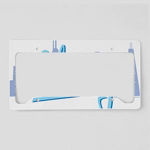 CHICAGO-Light-Blue License Plate Holder
