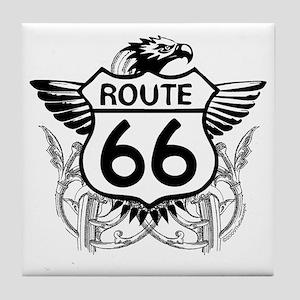 route_66_t_shirt Tile Coaster