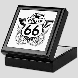 route_66_t_shirt Keepsake Box