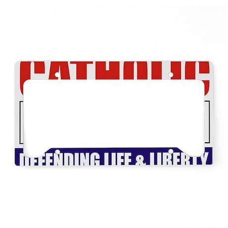 2-Catholic Republican (TShirt License Plate Holder