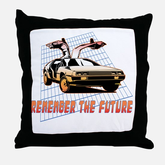 Remember the Future Throw Pillow