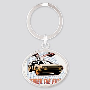Remember the Future Oval Keychain